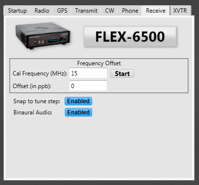 The Radio Setup - Receive menu.  A poor place to put the button to enable Binaural mode.  This should be in the GUI slice under where the volume controls are!